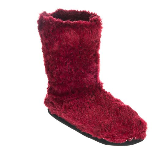 ANIMAL WOMENS SLIPPERS BOOTS.NEW BOLLO BORDEAUX RED SLIPPER BOOTIES 7W 309 F92